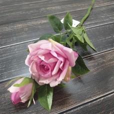 Гілка троянди рожева 38 см.