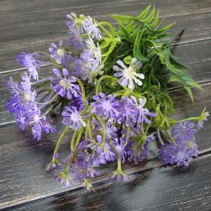 Букет зелені 32 см. бузкові квіточки