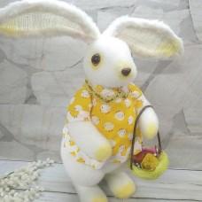 Кролик флок 50 см. з кошиком