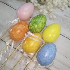 Набір яєць 6 см. 6 шт. на піку кольорові