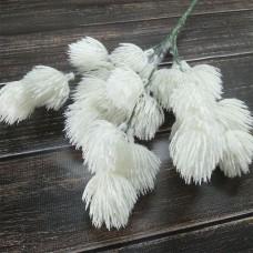 Гілка декоративна біла 30 см.