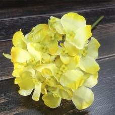 Гілка Гортензії жовта довжиною 24 см.