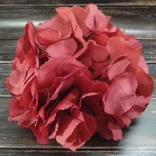 Головка Гортензії пастелно-червона діаметр 22 см.