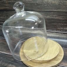 Підставка для композицій скляна, висота 17 см. діаметр 16 см.