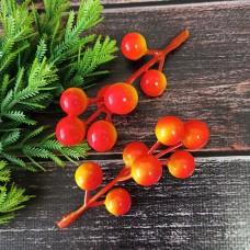 Гілка ягід помаранчевих 9 см.