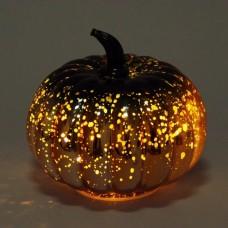 Декоративний скляний Гарбуз з LED-підсвіткою 15 см.