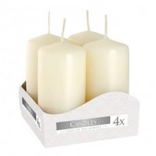 Комплект кремових свічок Bispol Циліндр 4х8 см. (4 шт.)